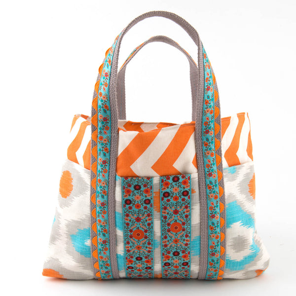 Canvas Chevron & Suzani bag