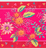 Pink Enchanted Flowers French Printed Wide Velvet border