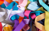 Sample Card- S-1068 French imported Silky Gros Grain Ribbon Polyester
