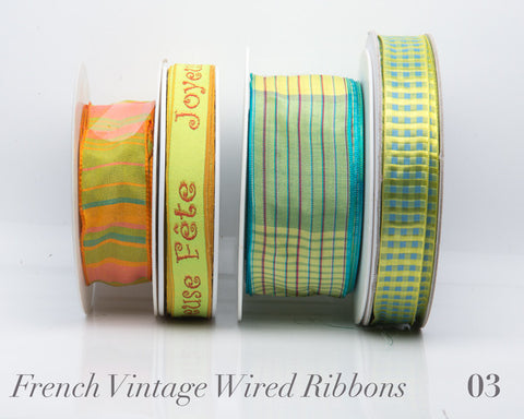 French Wired Ribbon Bundle #03