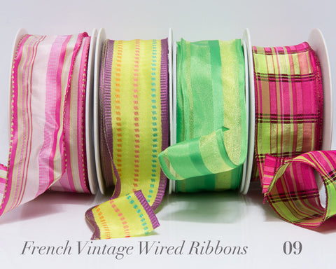 French Wired Ribbon Bundle #09