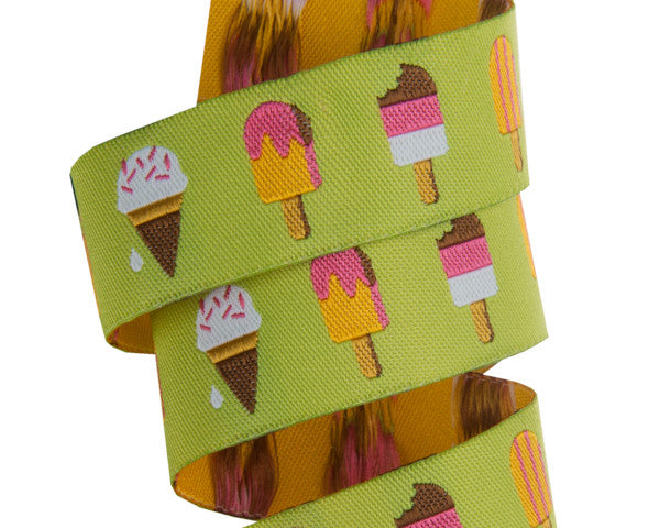 "Popsicles on Lime Green- 7/8""- Jessica Jones"