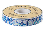 Pre-Order! Paperweight  in cobalt, silver and lavender on blue by Kaffe Fassett