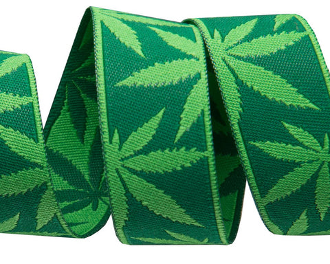 "Cannabliss Weed -Reversible design-7/8"" wide"
