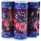 Enchanted Flowers on Purple - Printed Velvet Border