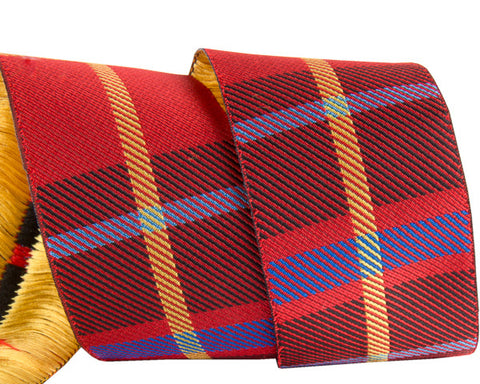 Red Woven Plaid 1 1/2""