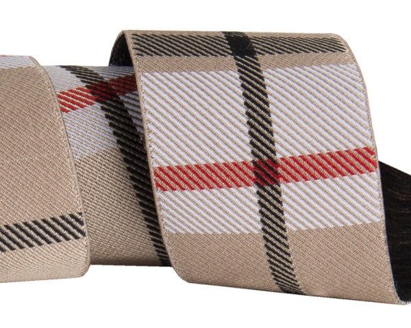 "Tan Woven Plaid 1-1/2"" by Jessica Jones"