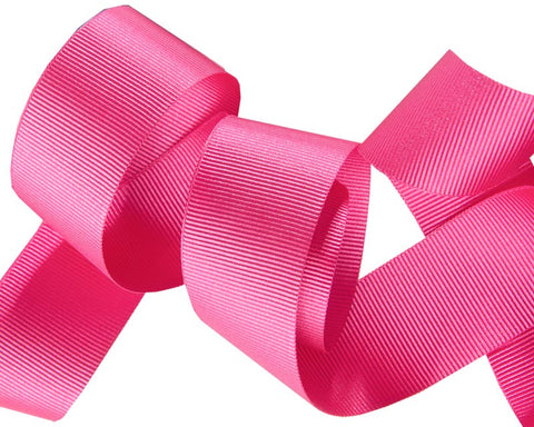 French Silky gros Grain ribbon Hot Pink