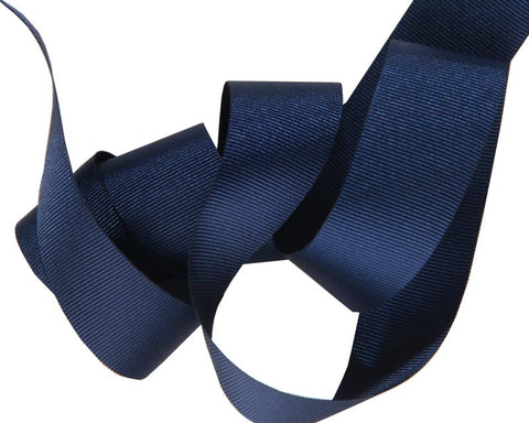 French Silky gros Grain ribbon Navy Blue