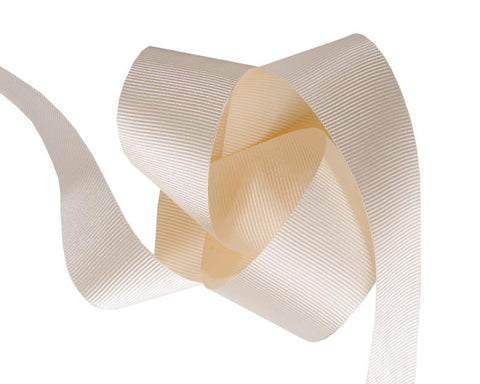 French Silky gros Grain ribbon Cream