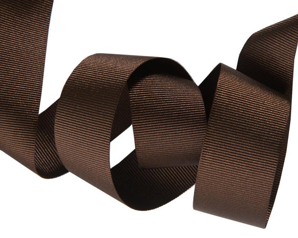 Coffee French Silky Grosgrain