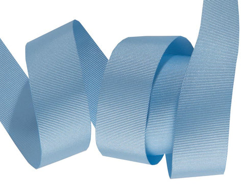 French Silky Gros Grain ribbon Baby Blue