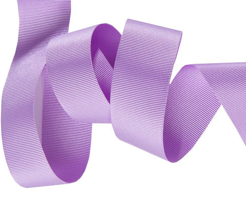 French Silky Gros Grain ribbon lavender