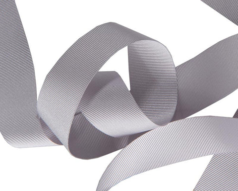 French Silky Gros Grain ribbon Pearl Grey