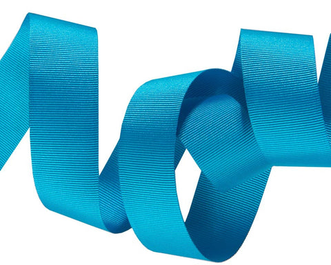 French Silky Gros Grain ribbon Turquoise