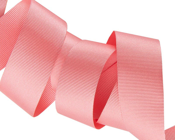 Coral French Silky Grosgrain