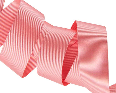 French Silky gros Grain ribbon Coral