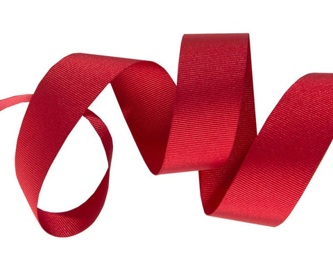 French Silky Gros Grain ribbon Red