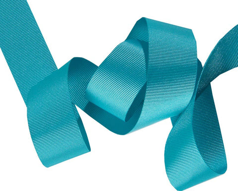 French Silky Gros Grain ribbon Aqua
