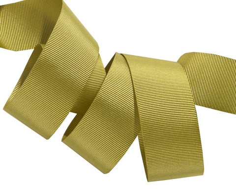 French Silky Gros Grain ribbon Green