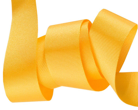 French Silky Gros Grain ribbon Yellow