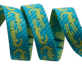 "Turquoise Crocodile 3/8"" - Folk Tails by Sue Spargo"