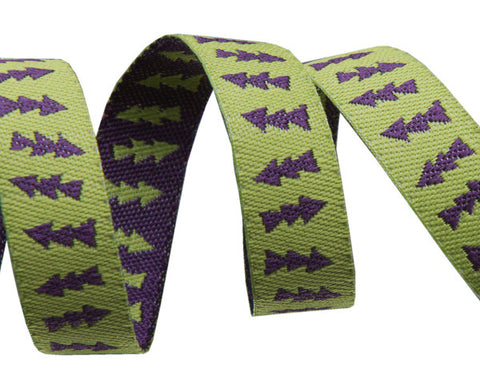 "Reversible Lime Green & Purple Arrows 3/8"" - Sue Spargo"