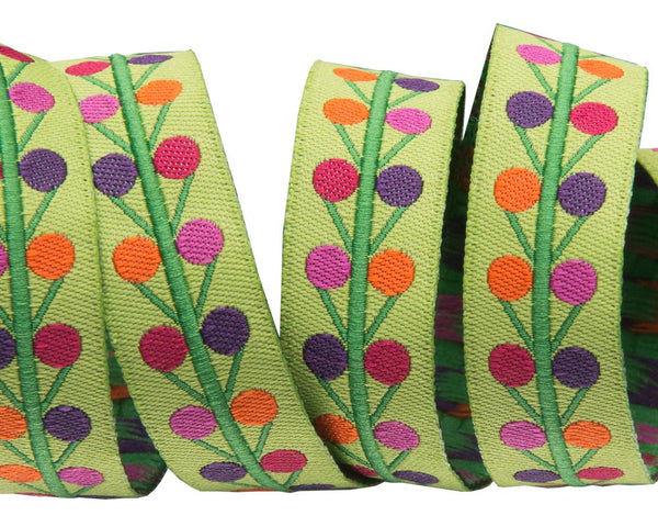 Multi Dots on lime - Sue Spargo