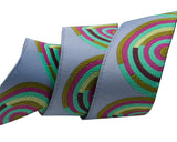 Fuchsia and Mint on Gray Hypnotizer ribbon-Tula Pink