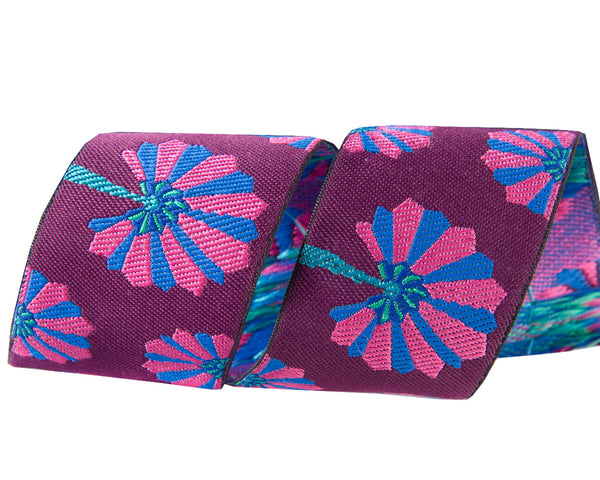 Palm Fan in indigo and pink by Kaffe Fassett