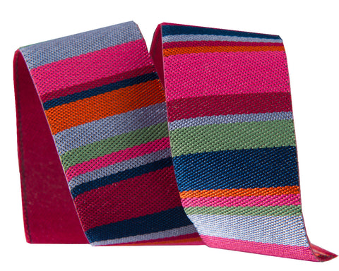 Roman Stripes in pink and blue by Kaffe Fassett