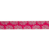 "Gerbera Hot Pink on Silver - 7/8"" - Kaffe Fassett"
