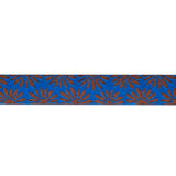 "Gerbera Blue on Bronze - 7/8"" - Kaffe Fassett"