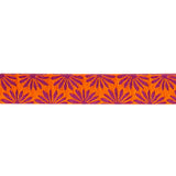 "Gerbera Orange on Wine - 7/8"" - Kaffe Fassett"