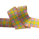 "Checkerboard Pink & Yellow - 7/8"" - Kaffe Fassett"