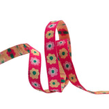 "Narrow Pink Flowers row - 3/8"" - Kaffe Fassett"