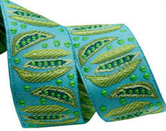 Peas on Turquoise - By LFN Textiles