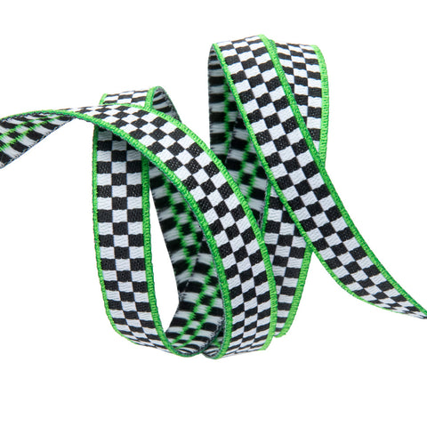 Tiny Checkerboard/Green-Mary Engelbreit -3/8""