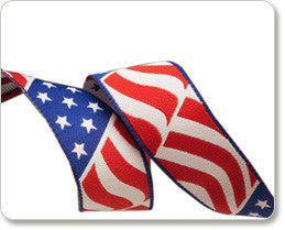 RK Designs - American Flag Ribbon 7/8""