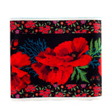 Wide Poppies on Black- Printed Velvet Border-Wholesale 6 Packs