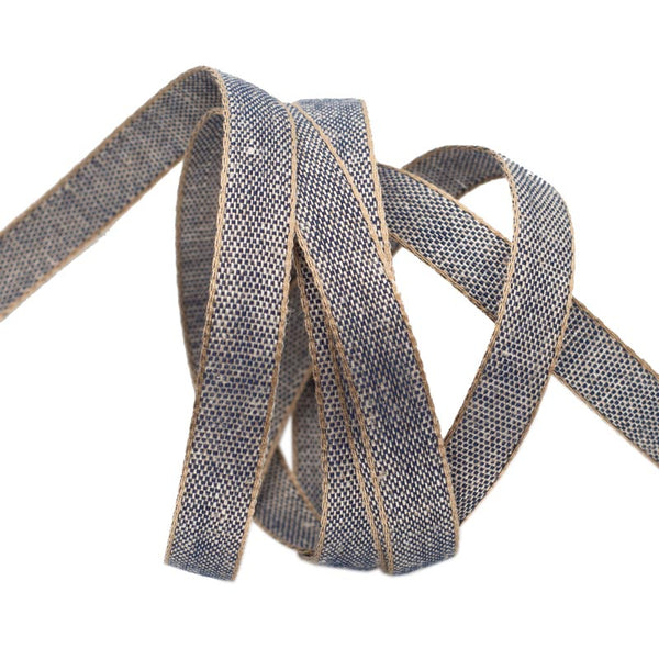 Navy Cotton/Linen Tape