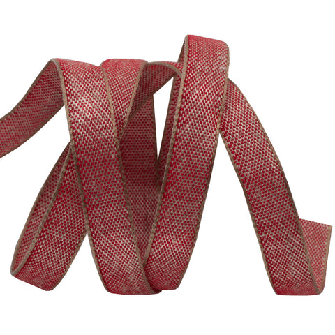 Red Cotton/Linen Tape