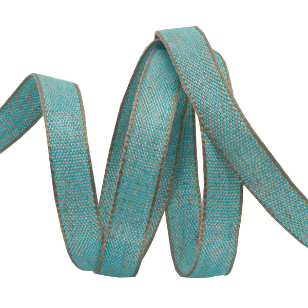 Aqua Cotton/Linen Tape