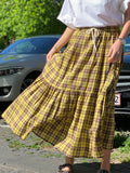 Tela Checked Xander Skirt