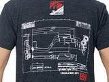 A'PEXi Blueprint Sketch T-Shirt Back