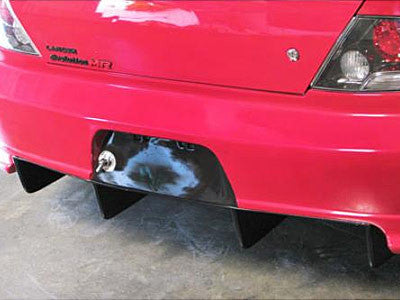 APR Carbon Fiber Rear Diffuser 2003-2007 Mitsubishi Lancer EVO 8 / 9 (APR Evil-R Widebody)