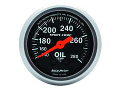 AutoMeter Sport-Comp 2-1/16 Oil Temperature Gauge, 140-280 °F, Mechanical (3341)