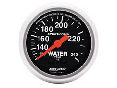 AutoMeter Sport-Comp 2-1/16 Water Temperature Gauge, 120-240 °F, Mechanical (3332)