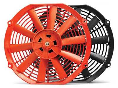 BLOX 12 Electric Slim Radiator Fans Red