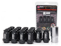 D1 Spec Black Lug Nut Set 20 PC (M12x1.25, 7075 Aluminum)